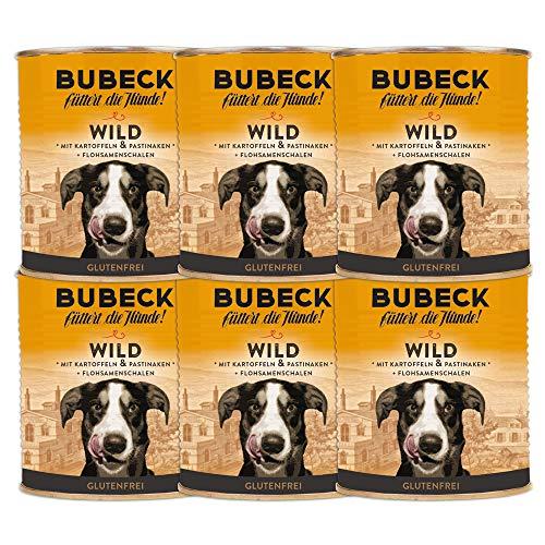 Nassfutter für Hunde   getreidefrei von Bubeck   Verschiedene Sorten (Wild, 800g)