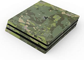 SOFLETE Tropical Multicam Full Faceplates Skin Decal Wrap with 2 Piece Lightbar Decals for Playstation 4 Pro