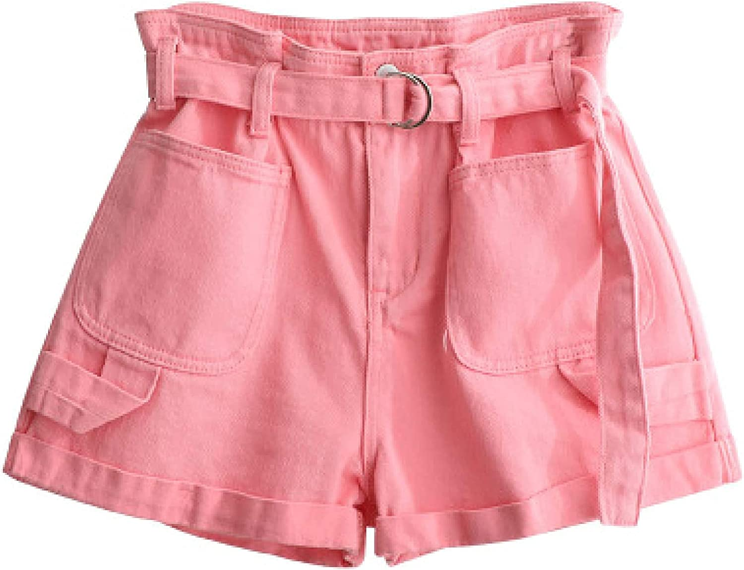 Women's Juniors Denim Shorts High Waist Personality Comfy Stretchy Jeans Simple