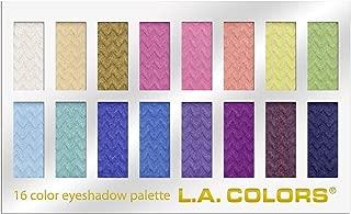 L.A. Colors 16 Color Eyeshadow Palette, Haute, 1.02 Ounce