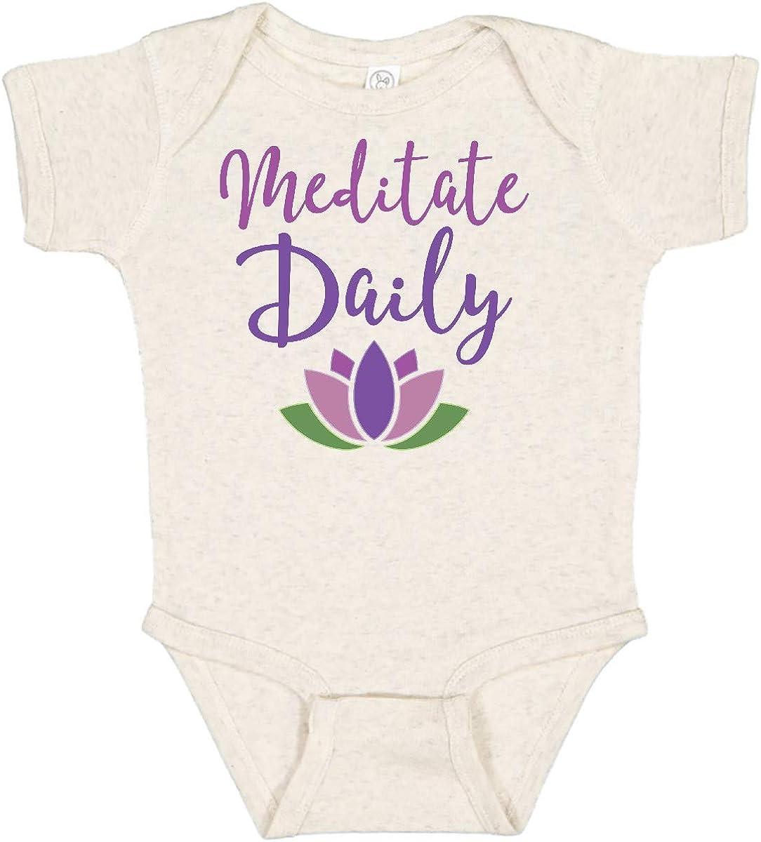 inktastic Over item handling Meditation Resolution Dedication Meditate Daily Infant Creeper