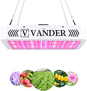 2000W LED Grow Light - Vander Newer Version Full Spectrum with Bloom Switch White LEDs Growing Lamps for Indoor Plants Veg and Flower- (384 LEDs High PPFD)