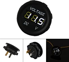 RENNICOCO Volt/ímetro Universal del indicador Digital del LED para el veh/ículo Marino DC 12-24V del Barco del cami/ón de la Motocicleta del Coche