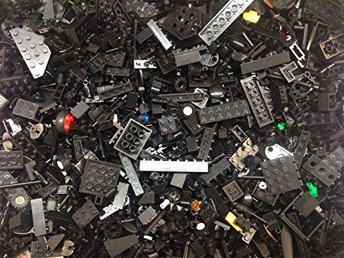 maisterkaio-de ca. 1 Kg Lego Steine in schwarz - kompatibel mit Anderen Lego Steinen -