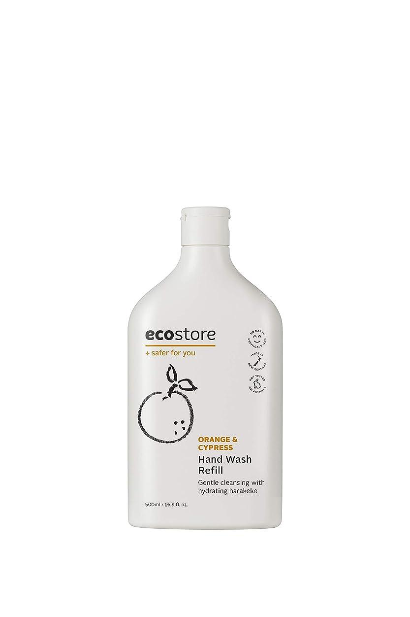 割り込み成長するゾーンecostore(エコストア) ハンドウォッシュ 【オレンジ&サイプレス】 500mL 詰め替え用 液体タイプ