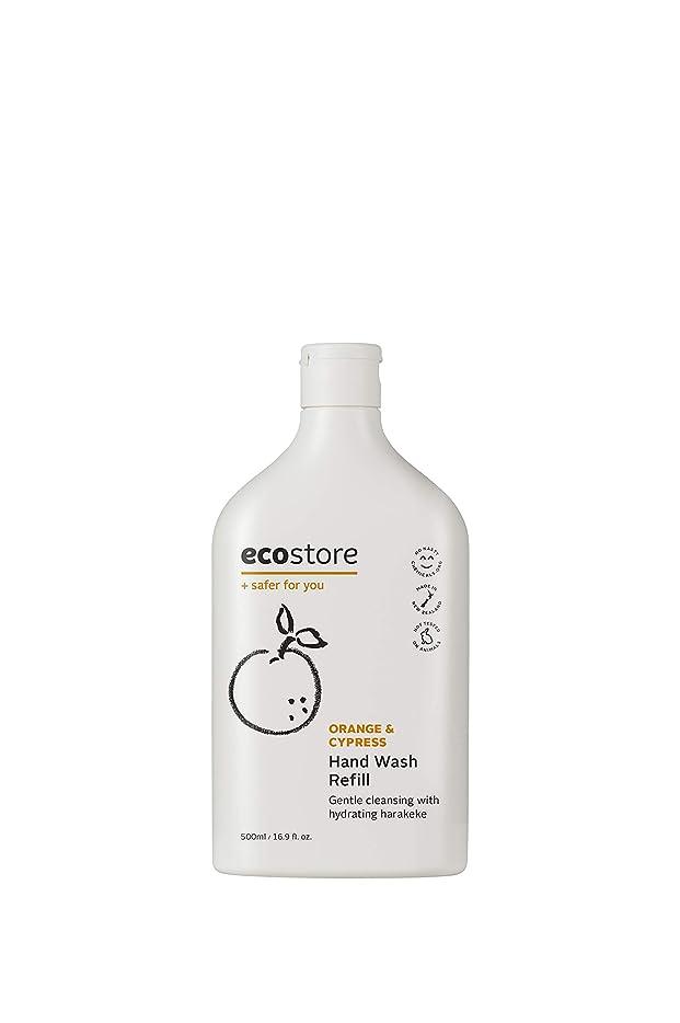 バルク村生理ecostore(エコストア) ハンドウォッシュ 【オレンジ&サイプレス】 500mL 詰め替え用 液体タイプ