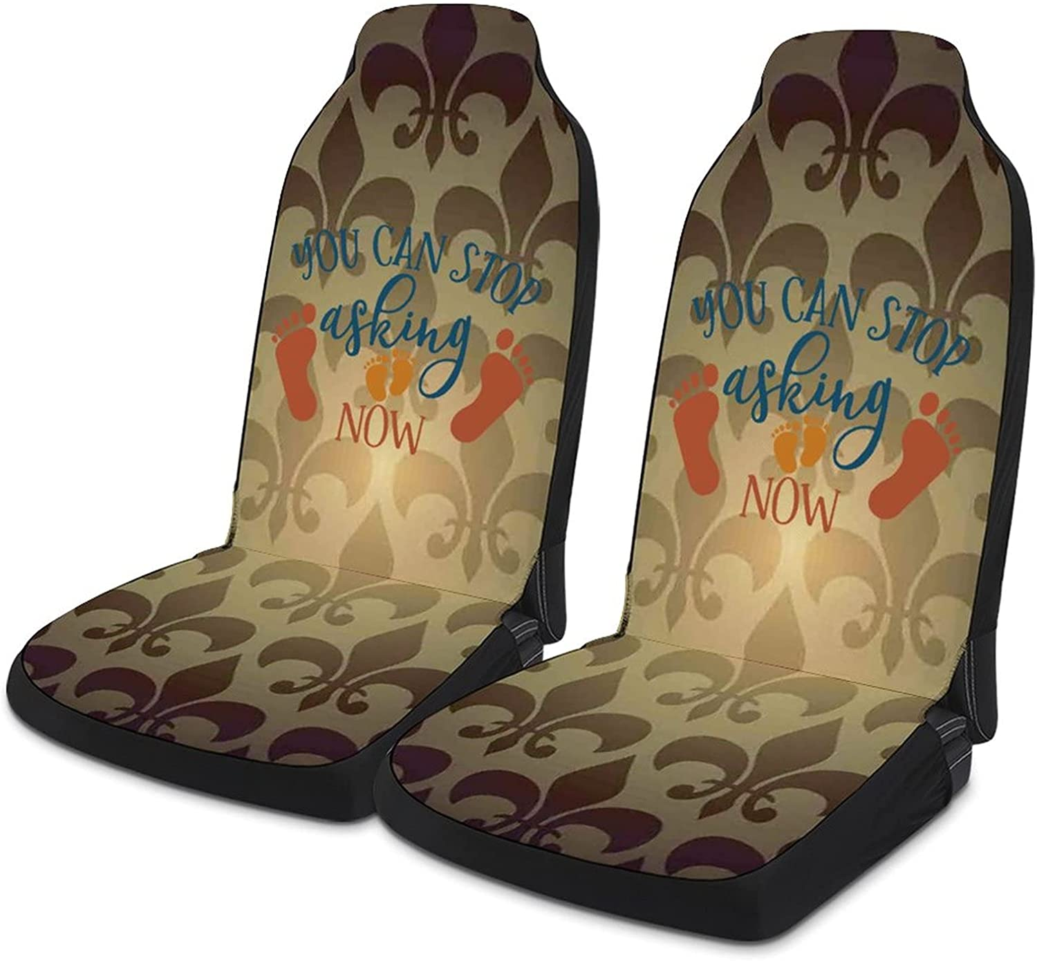 VinMea Car Seat Covers Set of 2 Stop Asking Acc Auto Can You Max 73% Limited time cheap sale OFF Now