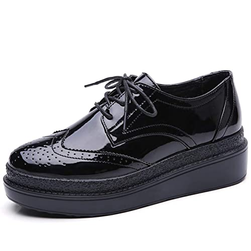 7aa31b2ad6e2 HKR Women Wingtip Oxfords Lace Up Platform Wedge Brogues Sneakers Shoes