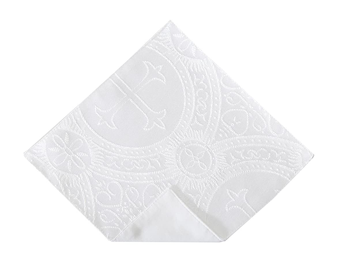 Boys First Holy Communion Pocket Square with Clergy Design Handkerchief (Boys)