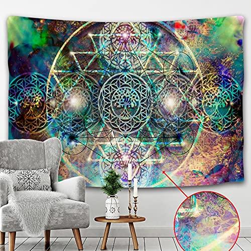 PPOU Tapiz de Tarot Indio brujería Colgante de Pared decoración del hogar Mandala Pared Hippie Tapiz Manta Tela Colgante A1 150x200cm