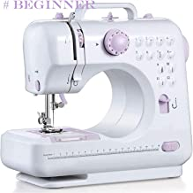 Top-Spring Portable Sewing Machine with Foot Pedal, 12 Stitches 2 Speed Heavy Duty Sew Machine, Electric Handheld Quilting Embroidery Overlock Quick Sewing Machine-Household Sewing Tool for Beginner