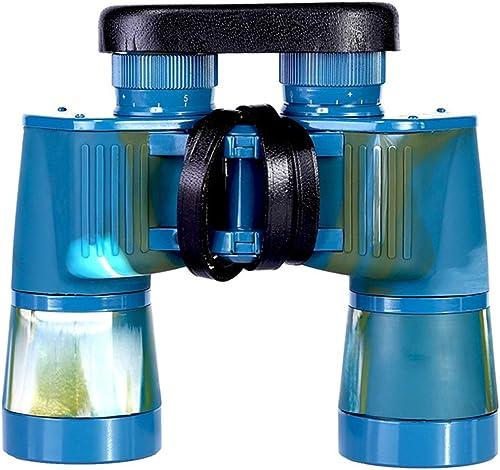 HOUYAZHAN Jumelles rétro en métal 7X50 pour Adultes, télescope binoculaire Puissant de Couleur Marine avec Sac de Transport