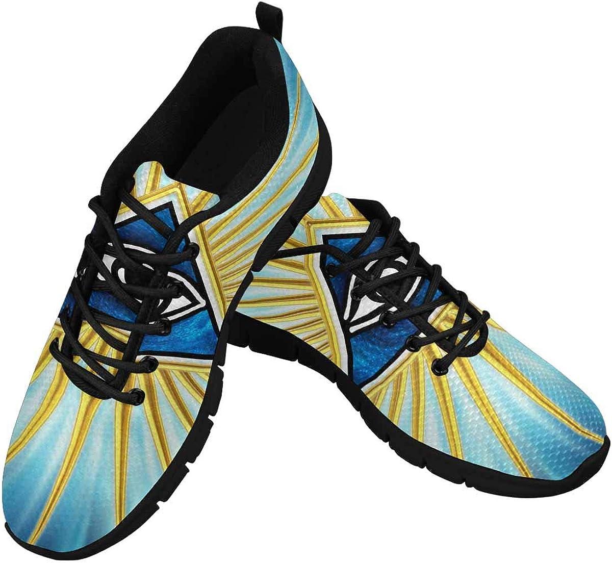 INTERESTPRINT Eye of Providence Women's Tennis Running Shoes Lightweight Sneakers