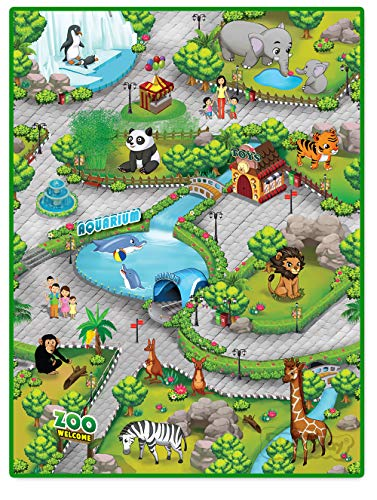 Liberty House Toys 657027 Multi-Coloured Children's Activity Play Mat Mehrfarbige Kinder 3Duplay Spielmatte Zoo