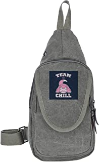 AHISHNF Monster Of The Pocket Slowpoke Team Chill Viajar Pecho Bolsas Para Hombres Y Mujeres Multiusos Casual Daypack Send...