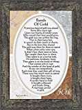 Vintage Bands of Gold, Poem Celebrating a Couples 50th Anniversary, 7x9 77979BW