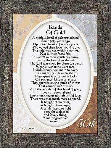 Vintage Bands of Gold Poem Print