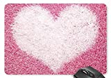 Pink Heart Mouse Pad 11.8 X 9.8 In