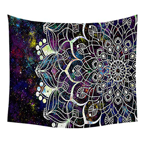 PPTS Tapiz drapeado explosión mandala estilo étnico estampado fondo toalla de playa, Stylec, 150*150cm
