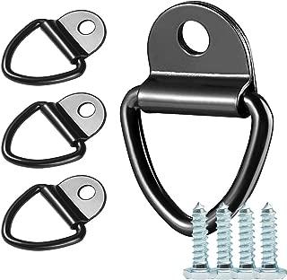 KINDPMA 6 Pezzi Anelli di Ancoraggio Anello di Fissaggio D Ring in Acciaio Zincato Anelli Ancoraggio Carico Gancio per Auto Rimorchi Furgoni Fuori Strada
