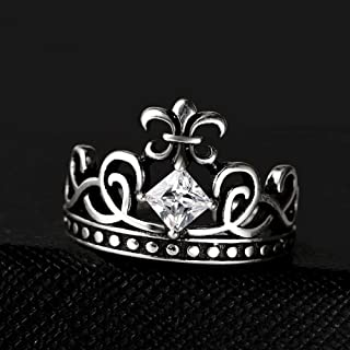 Lozse Anelli regolabili Anello da donna, diamante bianco, trafitto ad anello aperto