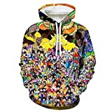 Dragon Ball Goku Anime Sudadera con Capucha Sudadera con Capucha Hombres Suéter con Capucha 3D Cómodo Manga Larga Unisex Colorido M