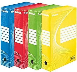 Esselte Boîte à Archive Standard, 80 mm, A4, Boîte Transfert, Carton Ondulé Sans Acide, Lot de 4, Capacité 600 Feuilles, C...