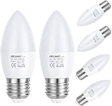 DiCUNO ProOE E27 Candle LED Bulbs, 5W, 450LM, Daylight White 5000K, CRI>98, Equivalent to 40W Incandescent Bulb, C37 Bayon...