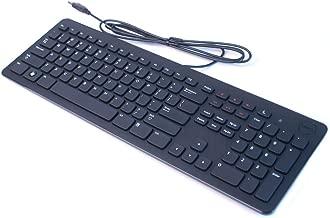 DELL BLACK SLIM WIRED USB MULTIMEDIA KEYBOARD GENUINE ORIGINAL OEM XD31W KB213P