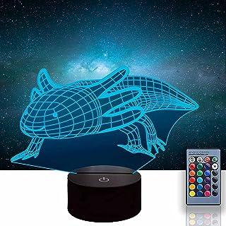 Axolotl 3D Glow LED Nachtlampje Inspiratie 16 Kleuren Optische Illusie Lamp Touch Sensor voor Thuis Party Festival Decor G...