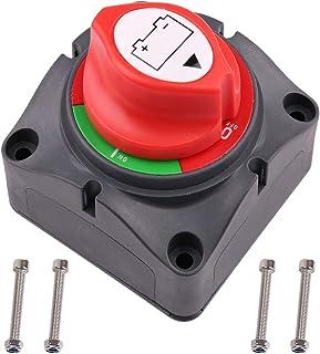 Battery Switch, 12V 24V 48V Battery Disconnect Master Cutoff Switch for Marine Boat RV ATV UTV Vehicles, Waterproof Heavy ...
