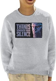 Marvel Avengers Infinity War Thanos Demands Your Silence Kid's Sweatshirt
