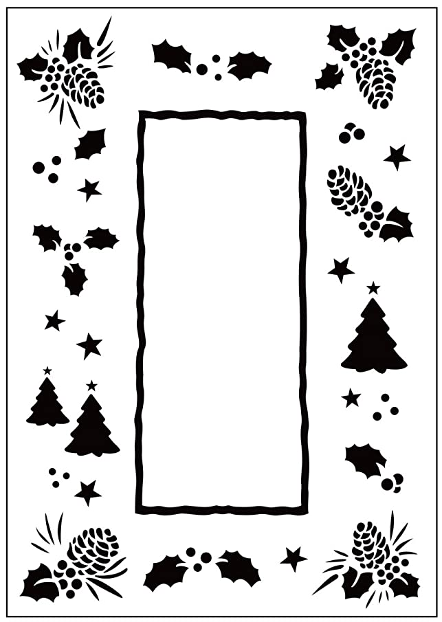 Darice 1215-66 Embossing Folder, 4.25 by 5.75-Inch, Pine Cone Frame Design