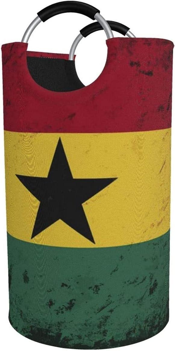 82L Large Ranking TOP10 Laundry Basket Retro Flag Collaps Ghana Flag-Ghanaian Milwaukee Mall