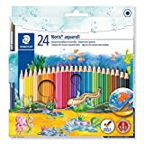 STAEDTLER- Noris Club aquarell 10 Estuche con 24 lápices, Multicolor (144 10NC24)
