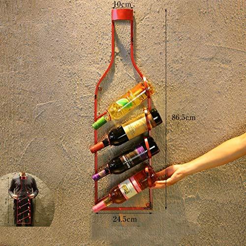 WIN&FACATORY muur gemonteerde wijnrekken muur behangingen Home restaurant Retro Industrie wandbekleding creatieve bar planken flessenrek (kleur: A) A