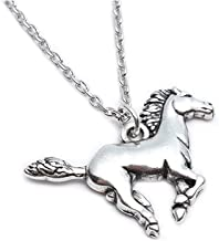 Charms Enamel Rainbow Horse Pendant Necklace with Earrings Jewelry Sets for Girls