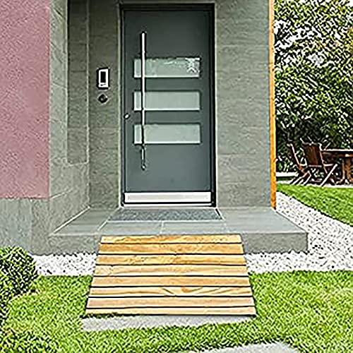 Lqdp Rampas Rampa de umbral de Madera de 30 cm de Ancho, rampa de Paso de Puerta para Scooters eléctricos, rampa para peatones/sillas de Ruedas, Fuerte y Resistente