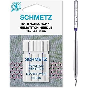 Schmetz con vainica/ala Agujas para máquina de coser, pack de dos ...
