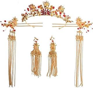 YNYA Tiare Corona Nuziale Corona Retro Costume Corona Cinese Accessori per Capelli da Sposa Accessori per Copricapo da Spo...