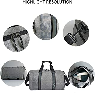 Reflective Gym Bag Travel Bag with Wet Dry Storage Shoes Compartment Waterproof & Durable Fashion Carry on Duffle Bag Yoga Bag