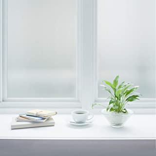 Jahoot Frosted Privacy Window Film, Static Clings Glass Door Tint No Glue Window Sticker for Home Office Security, Anti-UV, Heat Control - No Residue, Easy Removal (Winter Frost, 17.7x78.7 Inches)