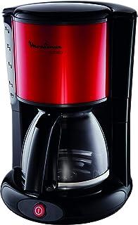 MOULINEX Cafetières filtre SUBITO rouge10/15 Tasses Machine à café cafetière électriqueCafetière Capacité 1.25L Antigo...