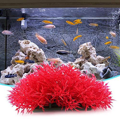 Pangding aquariumdecoratie, accessoires voor aquarium, decoratie voor vissen, kunststof, kunstgras, groen