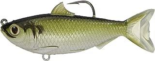 LiveTarget TFS95MS703 Threadfin Shad Series Freshwater Swimbait, Green/Bronze