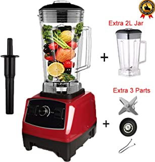 BPA free 2200W Heavy Duty Commercial Blender Professional Blender Mixer Food Processor Japan Blade Juicer Ice Smoothie Machine,redjarfulllid