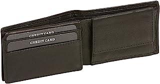 LEAS Damen und Herren Klassische Minibörse RFID-Schutz Mini Scheintasche mit Klappe extra flach im Querformat Echt-Leder, ...