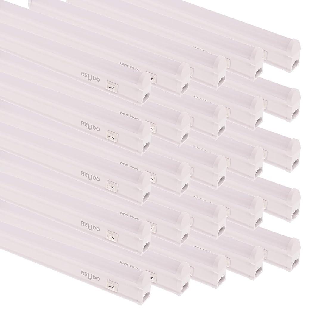 再生的調整グリーススリム蛍光管形LEDライト(スイッチ付) 長さ31cm 昼光色 400ルーメン 消費電力5W 配線工事不要 AC電源コード?連結コード付属 (25本セット)
