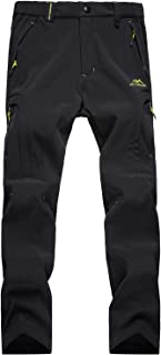 MAGCOMSEN Women's Fleece Lined Softshell Pants Winter Sports Snowboard Ski Pants Outdoor Hiking Pants with Multi-Pockets