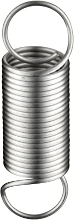 3 Free Length Pack of 10 0.36 OD 0.031 Wire Size 3 Free Length 9.72 Extended Length E03600313000S 0.42 lbs//in Spring Rate Inch 9.72 Extended Length 302 Stainless Steel 0.36 OD Extension Spring 0.031 Wire Size 3.07 lbs Load Capacity